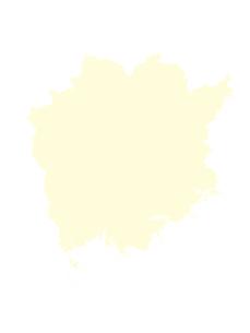 都道府県ポリゴン地図EPS岡山県(境界無)のイラスト素材 [FYI03102263]