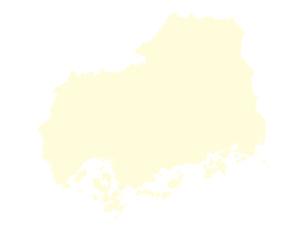 都道府県ポリゴン地図EPS広島県(境界無)のイラスト素材 [FYI03102264]
