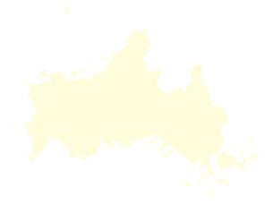 都道府県ポリゴン地図EPS山口県(境界無)のイラスト素材 [FYI03102265]
