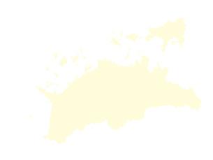 都道府県ポリゴン地図EPS香川県(境界無)のイラスト素材 [FYI03102267]