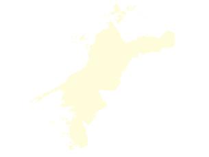 都道府県ポリゴン地図EPS愛媛県(境界無)のイラスト素材 [FYI03102268]