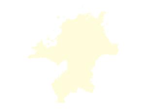 都道府県ポリゴン地図EPS福岡県(境界無)のイラスト素材 [FYI03102271]