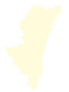 都道府県ポリゴン地図EPS宮崎県(境界無)のイラスト素材 [FYI03102277]