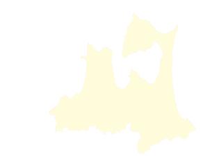 都道府県ポリゴン地図EPS青森県(境界有)のイラスト素材 [FYI03102281]