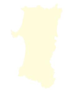 都道府県ポリゴン地図EPS秋田県(境界有)のイラスト素材 [FYI03102283]