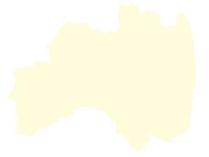 都道府県ポリゴン地図EPS福島県(境界有)のイラスト素材 [FYI03102285]