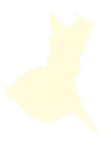 都道府県ポリゴン地図EPS茨城県(境界有)のイラスト素材 [FYI03102286]