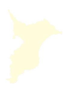 都道府県ポリゴン地図EPS千葉県(境界有)のイラスト素材 [FYI03102290]