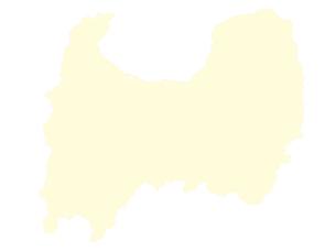 都道府県ポリゴン地図EPS富山県(境界有)のイラスト素材 [FYI03102293]