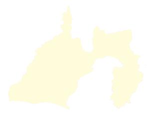 都道府県ポリゴン地図EPS静岡県(境界有)のイラスト素材 [FYI03102299]