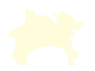 都道府県ポリゴン地図EPS神奈川県(境界有)のイラスト素材 [FYI03102301]