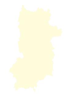 都道府県ポリゴン地図EPS奈良県(境界有)のイラスト素材 [FYI03102305]