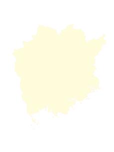 都道府県ポリゴン地図EPS岡山県(境界有)のイラスト素材 [FYI03102308]