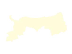 都道府県ポリゴン地図EPS鳥取県(境界有)のイラスト素材 [FYI03102310]