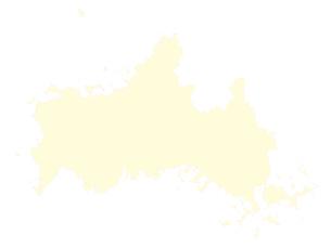 都道府県ポリゴン地図EPS山口県(境界有)のイラスト素材 [FYI03102312]