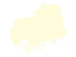 都道府県ポリゴン地図EPS広島県(境界有)のイラスト素材 [FYI03102313]