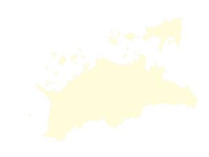 都道府県ポリゴン地図EPS香川県(境界有)のイラスト素材 [FYI03102314]