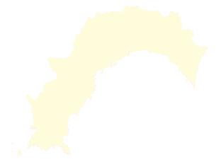 都道府県ポリゴン地図EPS高知県(境界有)のイラスト素材 [FYI03102317]
