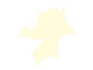都道府県ポリゴン地図EPS福岡県(境界有)のイラスト素材 [FYI03102318]