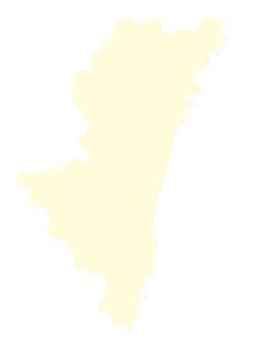 都道府県ポリゴン地図EPS宮崎県(境界有)のイラスト素材 [FYI03102321]