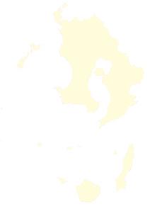 都道府県ポリゴン地図EPS鹿児島県(境界有)のイラスト素材 [FYI03102324]