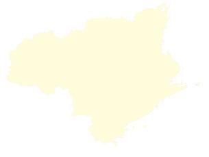 都道府県ポリゴン地図EPS徳島県(境界有)のイラスト素材 [FYI03102325]