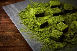 抹茶のチョコレートの写真素材 [FYI03102343]