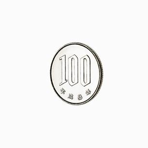 100円玉の裏の写真素材 [FYI03102438]