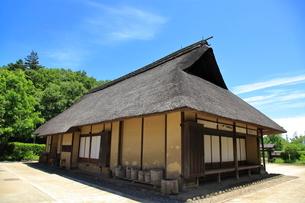 茅葺屋根の民家  東京都の写真素材 [FYI03104921]
