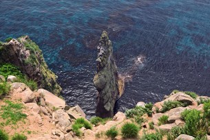 赤岩 天売島の写真素材 [FYI03105597]