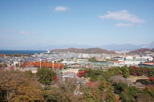彦根城から眺める彦根市街の写真素材 [FYI03106929]