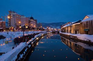 小樽雪あかりの路の写真素材 [FYI03107013]