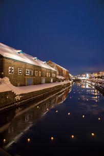 小樽雪あかりの路の写真素材 [FYI03107015]