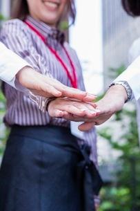 団結するビジネスウーマンの写真素材 [FYI03113114]