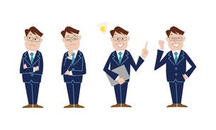 ビジネスマン 表情バリエーションのイラスト素材 [FYI03114688]