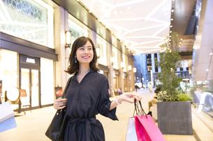 ショッピングを楽しむ女性の写真素材 [FYI03114699]