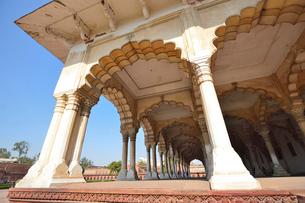 世界遺産アグラ城の宮殿の装飾の写真素材 [FYI03114996]