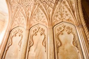 アグラ城カース・マハル内部の象嵌細工装飾の写真素材 [FYI03115015]