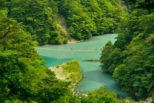 寸又峡温の夢の吊橋の写真素材 [FYI03115192]