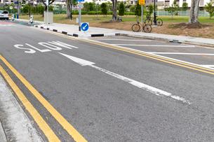 シンガポールSLOWの速度表示の写真素材 [FYI03115449]
