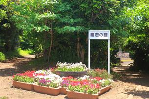江の島 恋人の丘にある龍恋の鐘の写真素材 [FYI03115595]