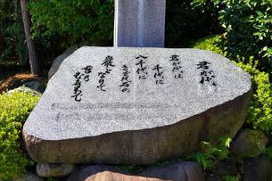 国歌 君が代の石碑の写真素材 [FYI03115652]