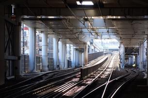 工事中の鉄道路線の写真素材 [FYI03115735]