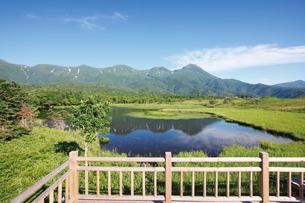 知床五湖の湖畔展望台より一湖を望むの写真素材 [FYI03115864]