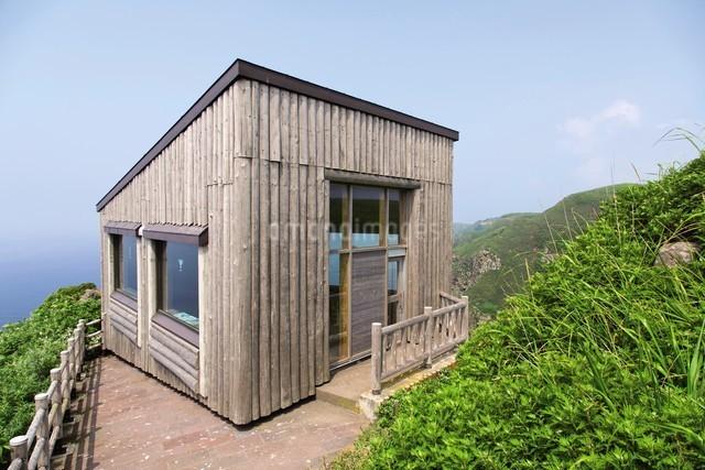 天売島の海鳥観察舎の写真素材 [FYI03115997]