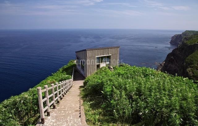 天売島の海鳥観察舎の写真素材 [FYI03116008]