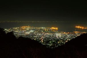 神戸市街の夜景,六甲山の写真素材 [FYI03116093]