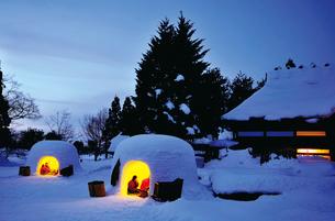 横手の雪まつり,木戸五郎兵衛村の写真素材 [FYI03116203]