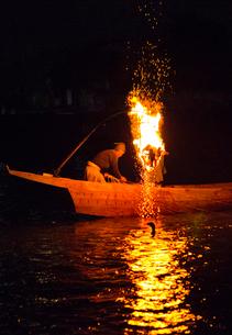 長良川鵜飼の風景の写真素材 [FYI03116504]