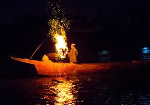 長良川鵜飼の風景の写真素材 [FYI03116506]